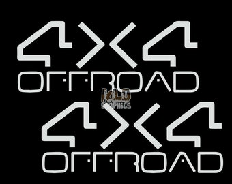 4x4 Offroad DUB EDITION (Set of 2) Vinyl OEM Sticker Ford Chevy Dodge Jeep