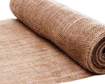Natural Hessian Burlap Jute Roll Runner 50cms x 10 metres. Create rustic / country weddings, events and parties!
