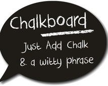 Real Chalkboard Speech Bubble 25cm Photo Booth Prop  013-501 Photo Prop for Weddings, Parties Events