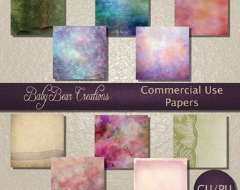 10 Commercial use digital scrap papers. Assorted colors & styles.