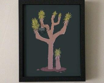 Modern Illustration Desert Joshua Tree Art Print