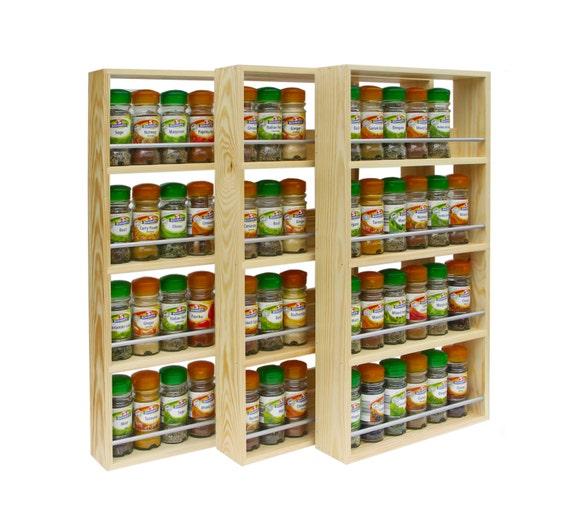 Spice Rack Contemporary Modern Style 4 Shelves Freestanding