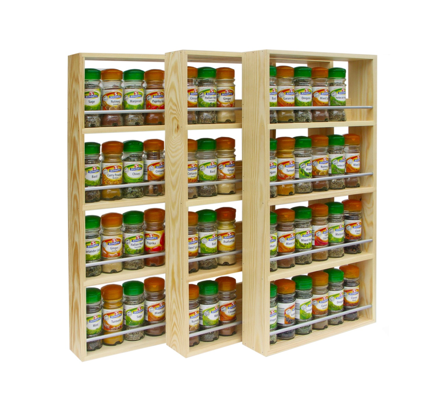 diy spice rack freestanding wooden spice rack contemporary modern 4 shelves freestanding