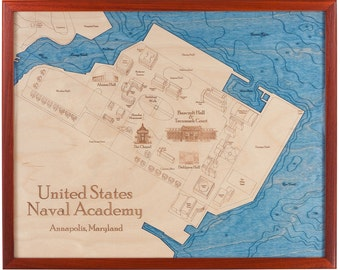 United States Naval Academy, Annapolis 16x20 3D Wall Chart