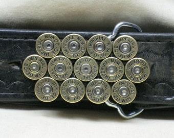 Men's Belt Buckle Bullet 30-30 Winchester Brass Straightline
