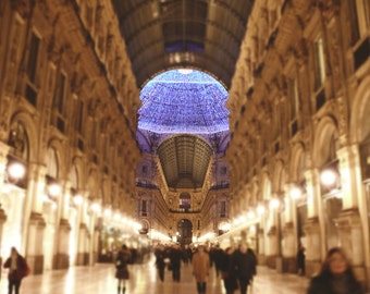 Travel Photography - Dreamy Milan Galleria Photo, 24x36 20x30 16x20 8x10 5x7 fine art wall decor, wall art, italy shopping photo