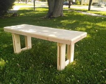Bench, made out of quality materials.
