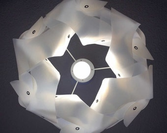 upcycle lampshade MILKTURBAN out of plastic milk containers