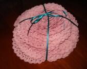 Destash: 18.25+ yards of Dusty Pink Gathered Lace