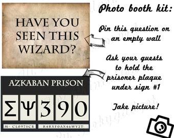 HP Photo booth Prisoner of Azkaban- Harry Potter inspired party decoration, Hogwarts, Halloween - Printable pdf instant download DIY