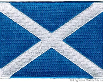 SCOTLAND FLAG PATCH iron-on embroidered applique Top Quality St. Andrew's Cross