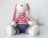 Easter bunny Plush stuffed bunny rabbit soft toy, Big toy gift, gift for the child, gift for birthday, bunny doll