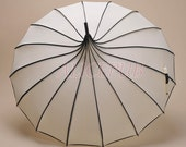 Rain Umbrella, Ivory Pagoda Umbrella Parasol, Wedding Umbrella, Bridal Parasol, Wedding Photo Props Umbrella, Vintage Bridal Umbrella BTS12A