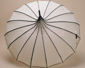 Rain Umbrella, Ivory Pagoda Umbrella Parasol, Wedding Umbrella, Bridal Parasol, Wedding Photo Props Umbrella, Vintage Umbrella BTS12A-06
