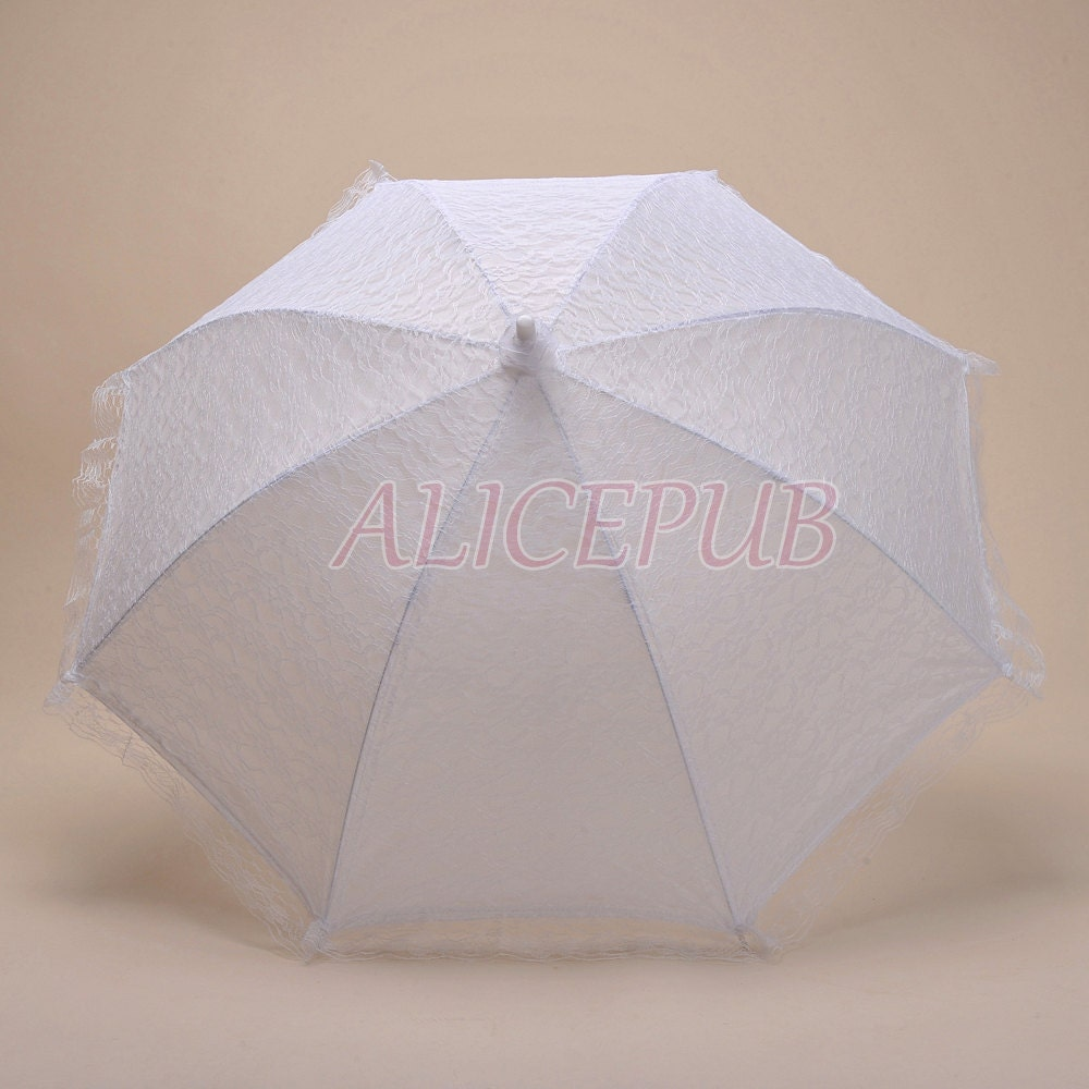Wedding Umbrella White Lace Umbrella Wedding Lace By ALICEPUB