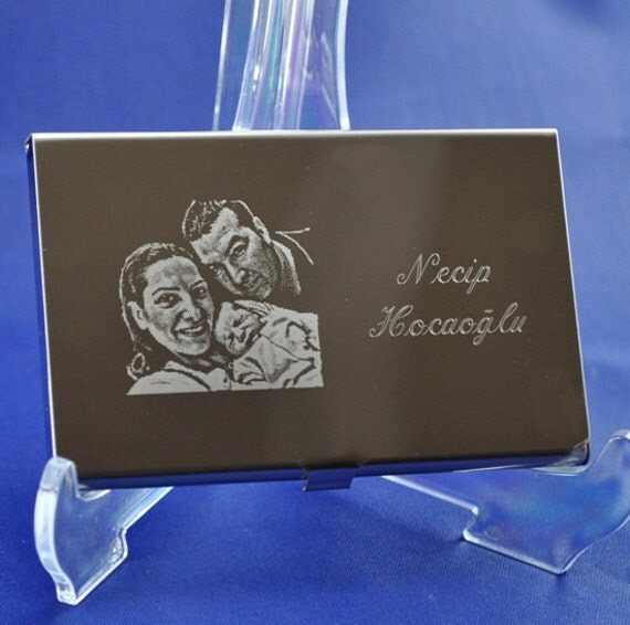 Personalized Business Card Holder Engraved And Text
