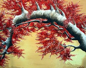 """Asian Tree  - 8"""" x 10"""" Print"""