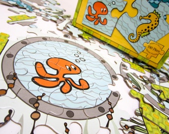 Sensational Sealife | 100 PC Jigsaw Puzzle | Artwork by Mark Poulin