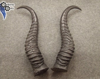 Resin Springbok horns (type #10) - Black