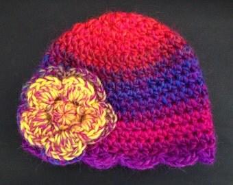 crochet baby beanie - Newborn - Photography prop