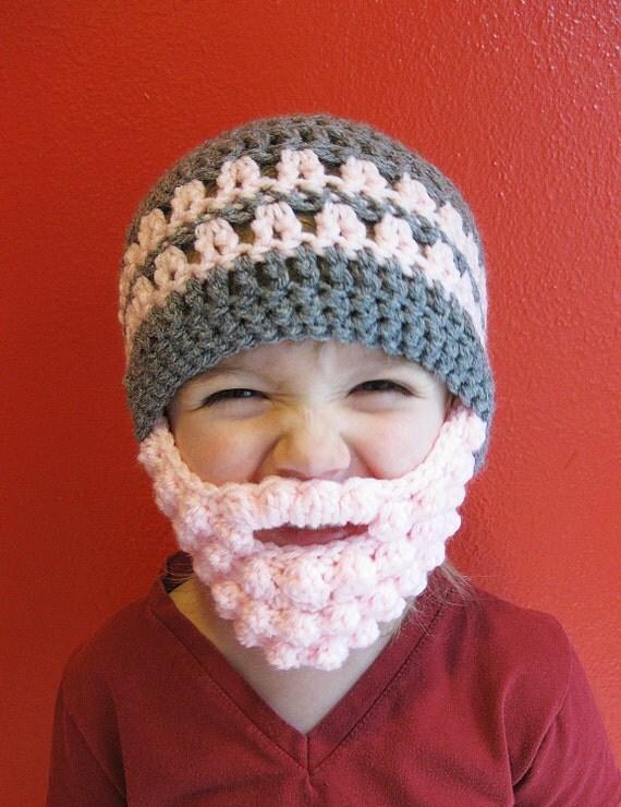 Custom Beard Crochet Hat Bobble Baby