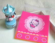 50pcs lace bags, long dessert bags, biscuits bags, party bags, candy bags, scrapbook pouch, theme party supplies, Hello Kitty Favor Bags