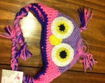 Owl Hat newborn - 10 years old