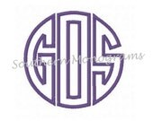 Circle Monogram Applique Embroidery Design INSTANT DOWNLOAD