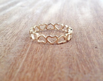 Heart Ring - love ring, gold filled ring