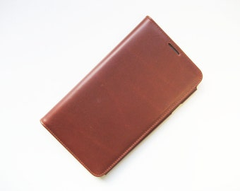 Leather Galaxy Note 3 Case Cover Wallet - leather N3 - chestnut brown leather - genuine leather - handmade
