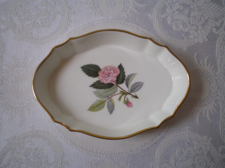 Wedgwood Bone China Trinket Pin Dish Hathaway Rose