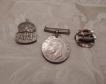 3 World War II Medal and Badges 1938-1945