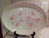 Tickled Pink 13 inch Vernon Ware Platter