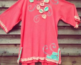 GULF SHRIMP Ladies to Plus Size Comfy Two Piece Set Corals Made To Order KellyJacksonDesign