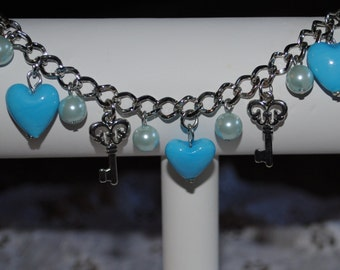 Keys to Love Charm Bracelet