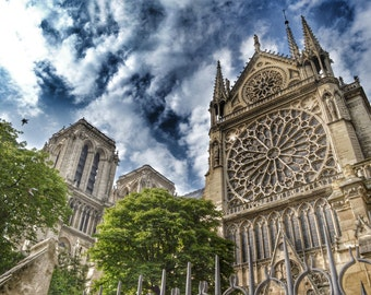Paris Photography, Notre Dame Cathedral, Notre Dame de Paris, Architectue, French Wall Art, Paris Print