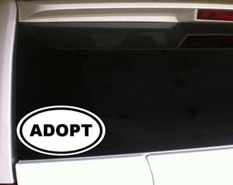 "Adoption Car Decal Vinyl Sticker 6"""