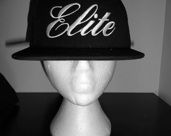 Fitted Hat with custom made script! Elite hat