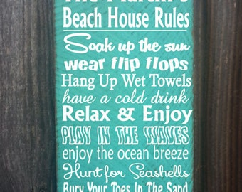 personalized beach sign,  beach sign, beach house decor, personalized beach house sign, ocean sign, beach cottage, beach cottage decor, 5/16