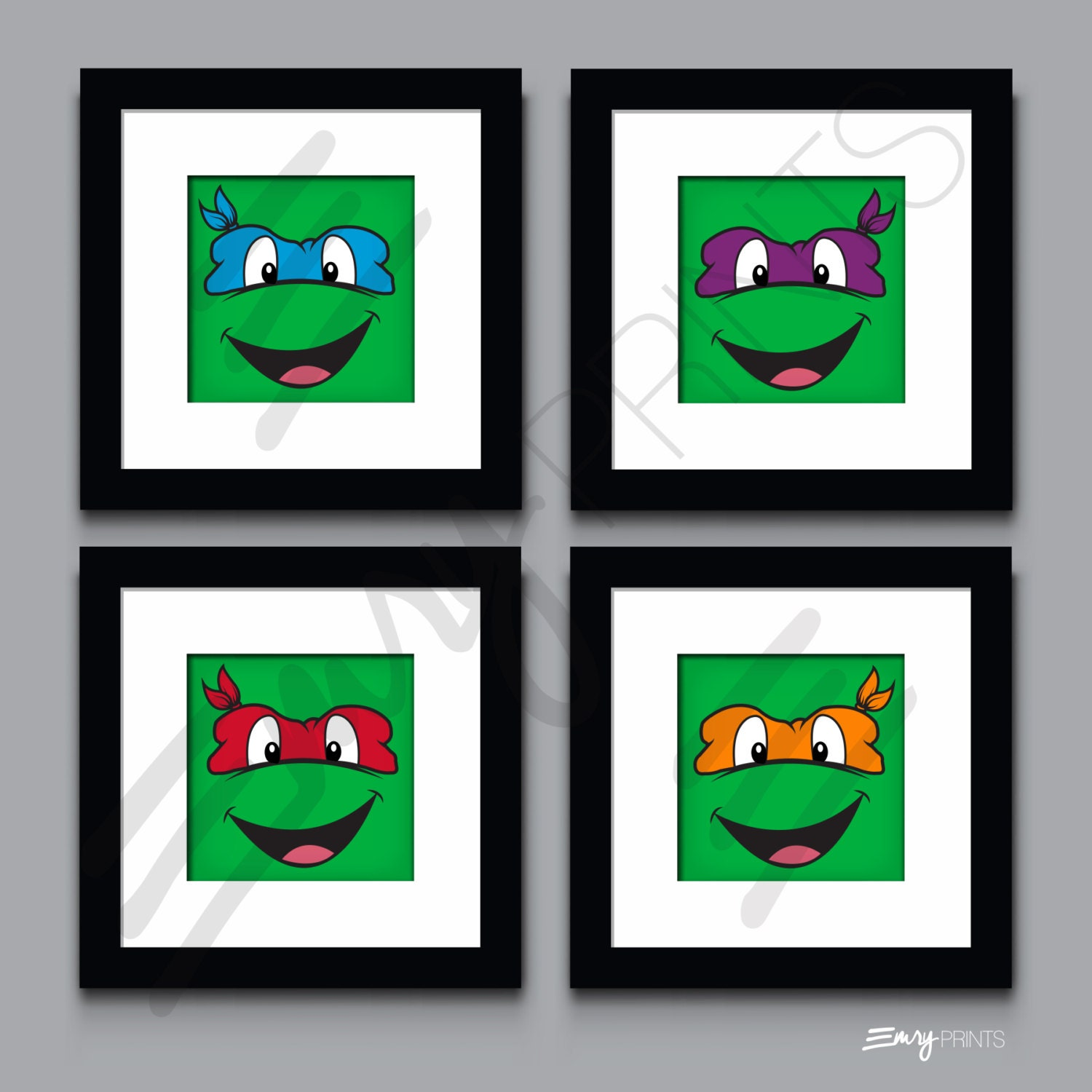 Teenage mutant ninja turtles children 39 s room wall art for Tmnt decorations
