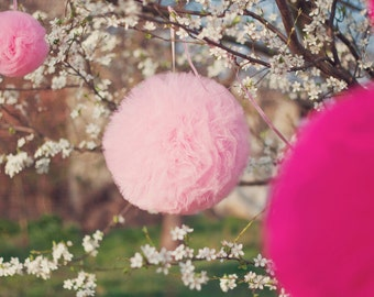 Large and Thick Tulle Pompom