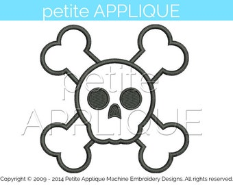 cute pirate Applique Design for Embroidery Machines Instant Download - 3 sizes