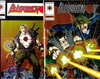 Bloodshot 0 and 1 NM to NM+ Chrome Set Lot Movie Coming Valiant Comics Books 1st Ever Chromium Cover Modern Age Anniversary Gift for Him Her