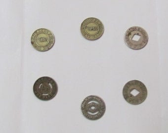 Vintage transportation token coins