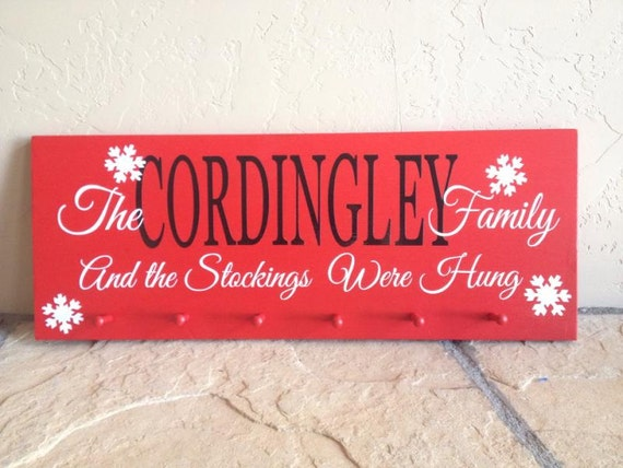 New years sale personalized christmas stocking hanger with pegs