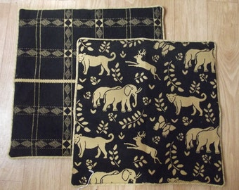 set of two animal cushion covers