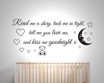Read me a story - Wall sticker - Childrens bedroom - Nursery - Vinyl Decal