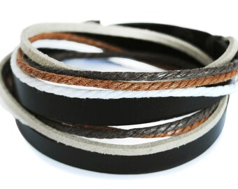 axy wrap bracelet TWIC6-4!  Leather Bracelet