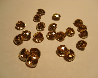 1 pc. Classic Square 8mm Crystal (001) Golden Shadow  Swarovski Crystallized 4461 SALE