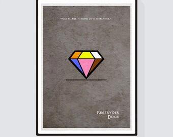 Reservoir Dogs Minimalist Alternative Movie Print & Poster
